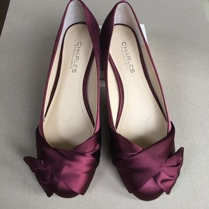 Charles by Charles David Satin Bow Flats